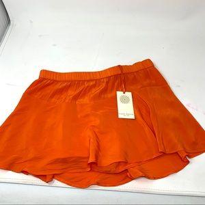 NWT Ramy Brook Tiana skirt size S orange C1